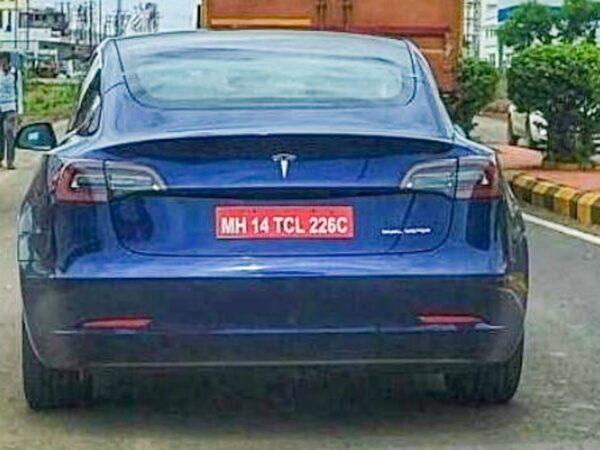 Tesla Model 3 Spied In Pune