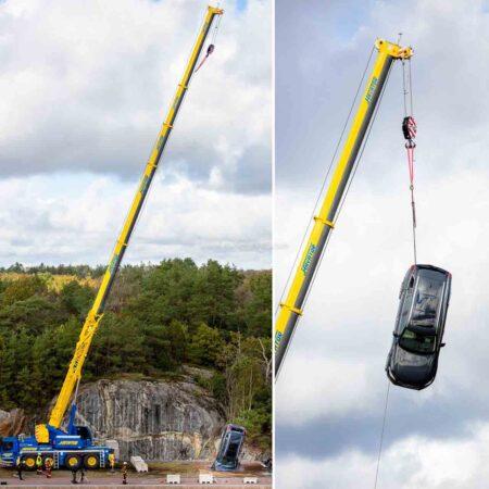 Volvo Car Vertical Crash Test