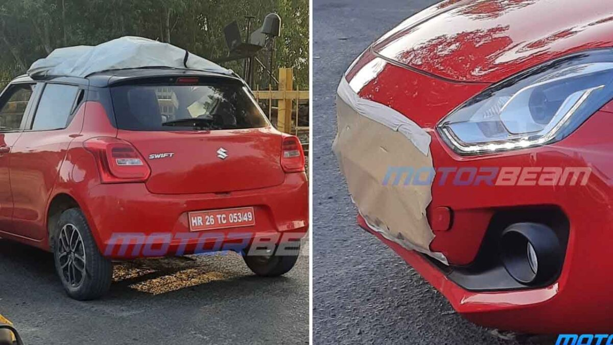 2021 Maruti Swift Facelift Spied In India For 1st Time - Launch By March