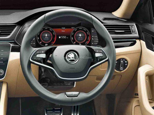 2021 Skoda Superb with new 2 spoke steering wheel for L&K