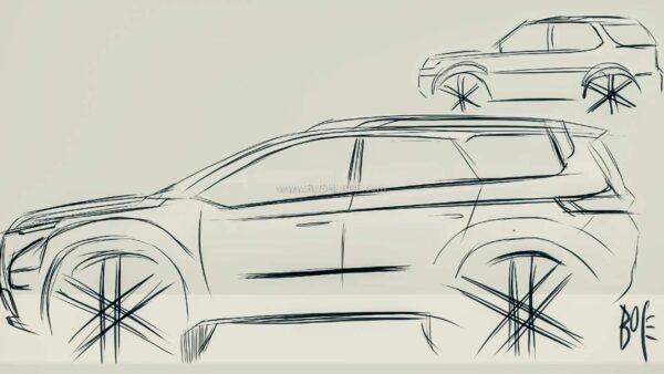 2021 Tata Safari Sketch By Pratap Bose