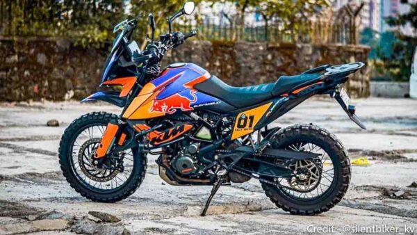 2021 KTM 390 ADV modified