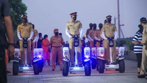 Mumbai Police On Patrol At Worli