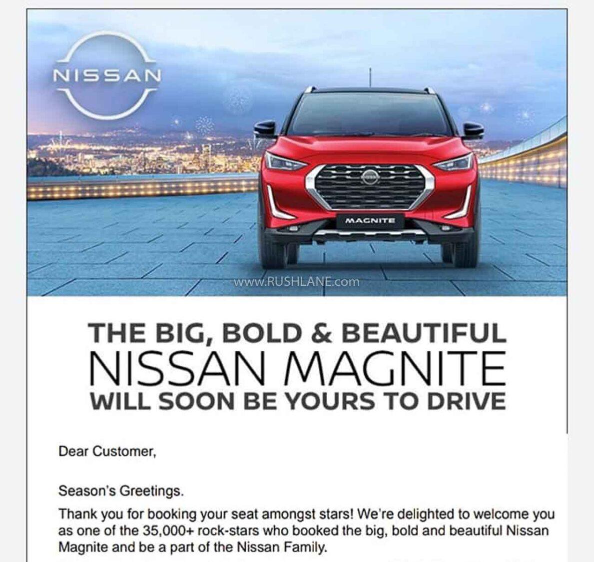 Nissan Magnite bookings cross 35,000