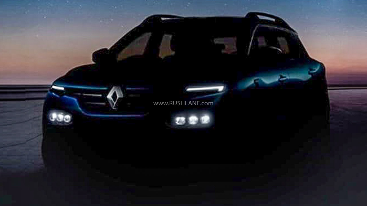 Renault Kiger Led Drls Teased New Electric Car Prototype Unveiled