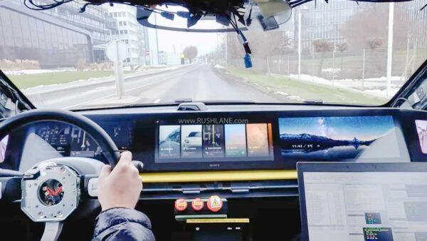 Sony Electric Car Dashboard