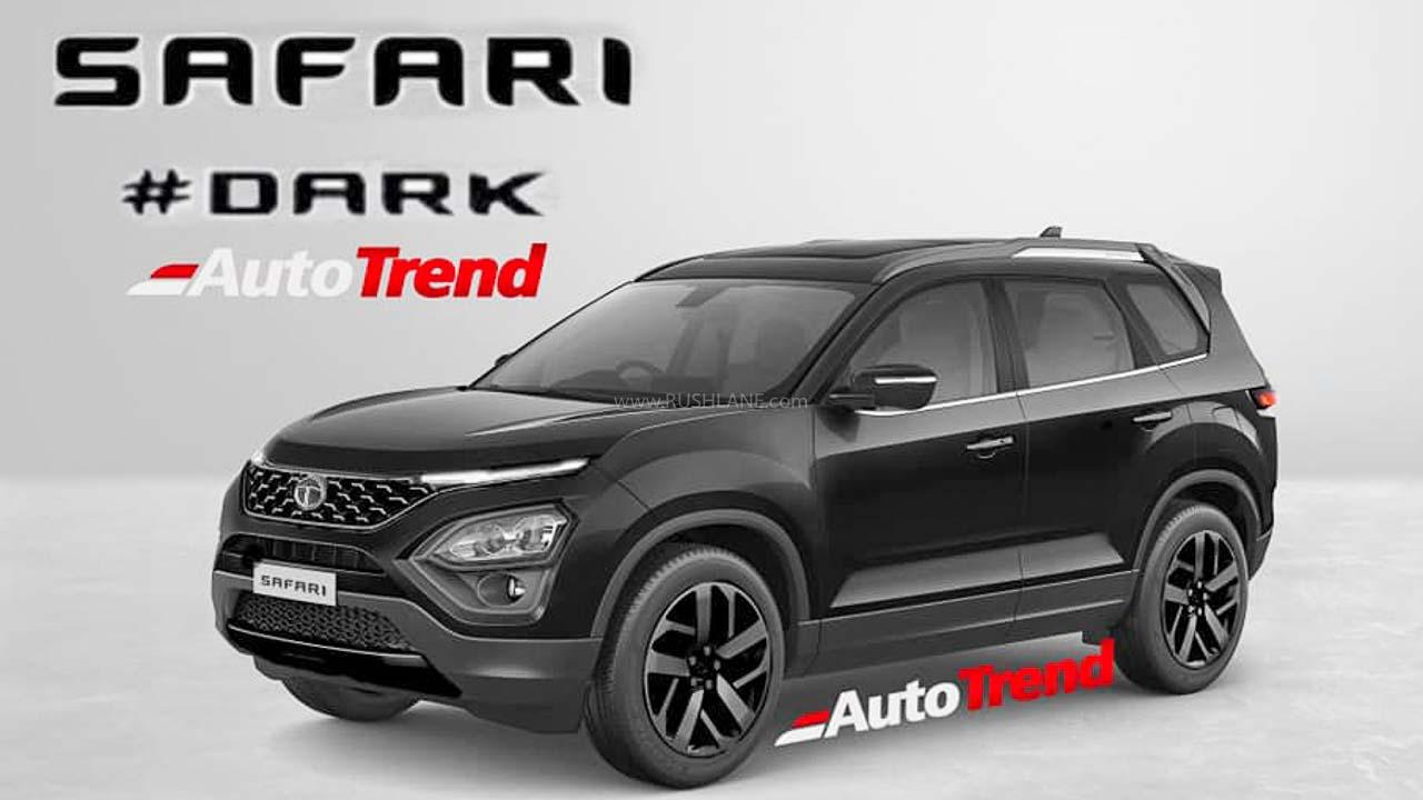 Tata Safari Dark And Camo Edition Rendered Ahead Of Launch