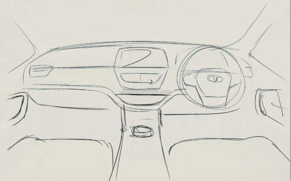 Tata Safari Interiors Sketch