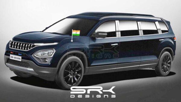 Tata Safari SUV As An Armoured Presidential Limousine - Digital Render