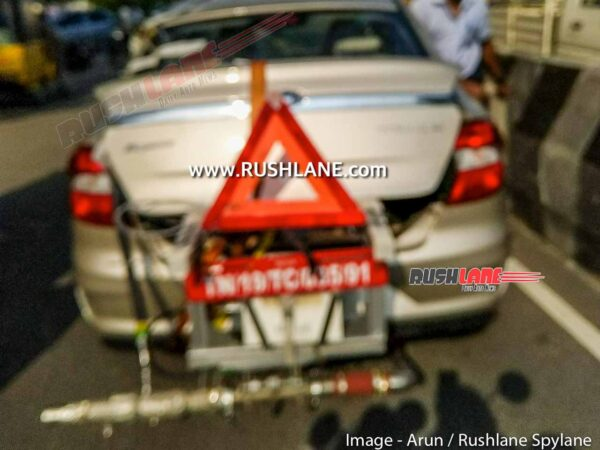 BS6 Ford Aspire CNG spied testing