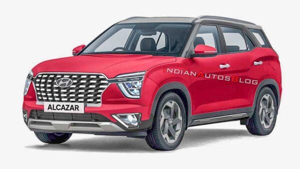 2021 Hyundai Red Alcazar Render