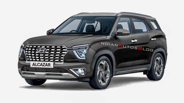 2021 Hyundai Black Alcazar Render