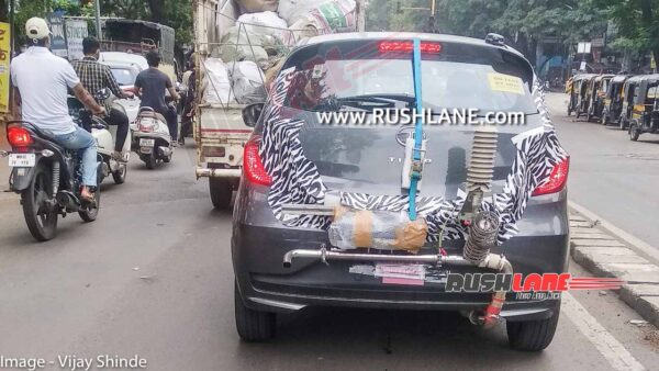 Tata Tiago CNG Spied - On test by ARAI in Pune