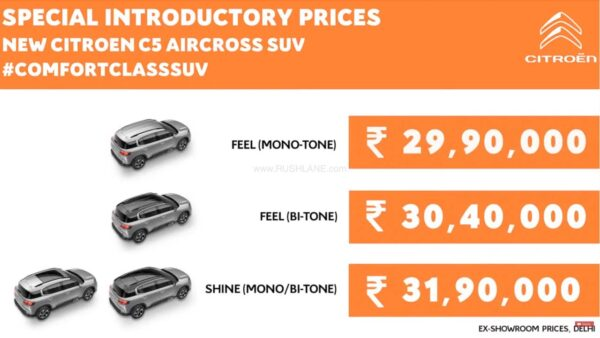 Citroen C5 Aircross price in India