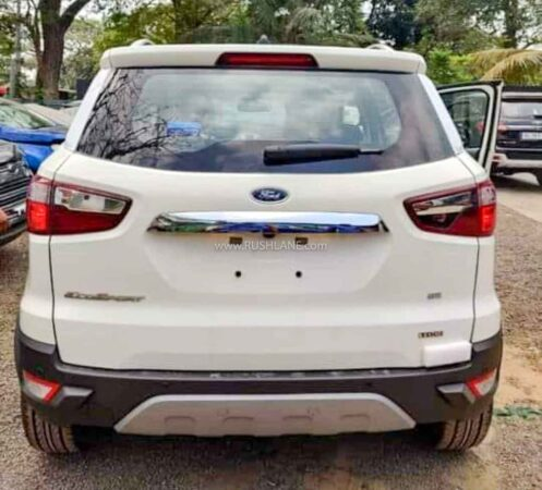 Ford EcoSport without spare wheel on tailgate