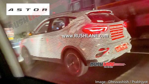 MG ZS Petrol SUV Spied