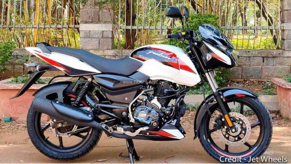2021 Bajaj Pulsar White Colour
