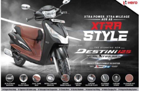 2021 Hero Destini 125 Platinum Edition