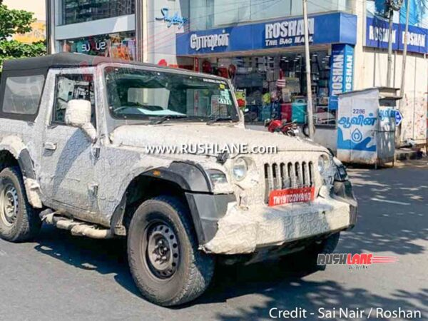 Mahindra Thar Soft Top variant with Side Facing Rear Seats