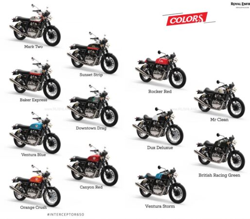 2021 Royal Enfield 650 New Colours
