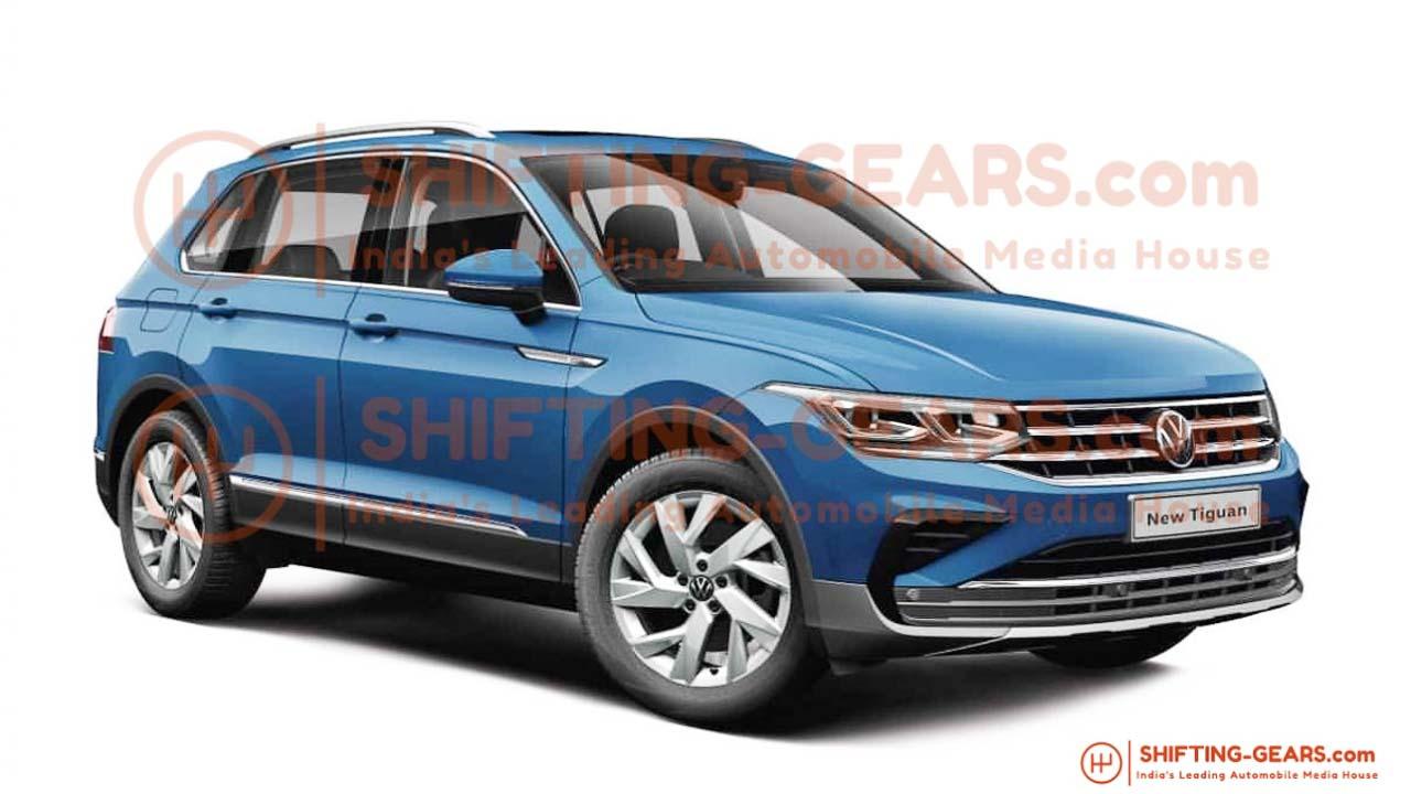 2021 Volkswagen Tiguan Facelift Images Leak Ahead Of India ...