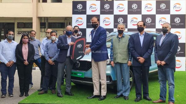 MG ZS Electric Car Donated To IIT Delhi