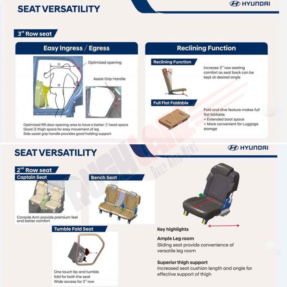 Hyundai Alcazar - Seat Versatility