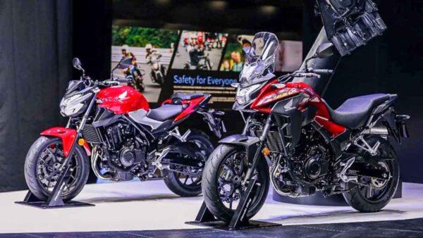 2022 Honda CB400F and CB400X