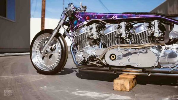 Galaxy Custom Motorcycle With 3 Engines