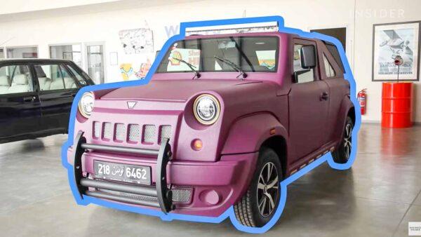 SUV made of Fibreglass panels