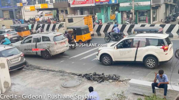 Mahindra XUV500 and XUV700 Spied Testing Together