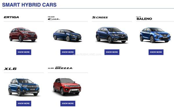 Maruti SHVS Cars
