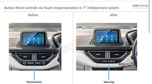 Tata Nexon touchscreen buttons removed