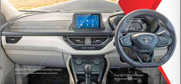 Tata Nexon touchscreen without buttons