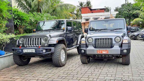 Jeep Wrangler and New Mahindra Thar