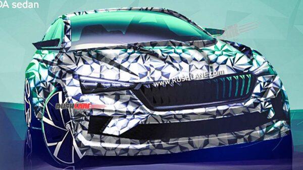 New Skoda Sedan Teaser