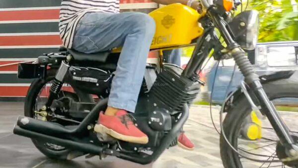 TVS XL modified to like a Harley