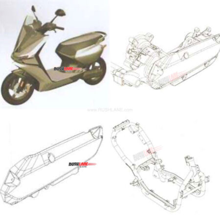 Upcoming Ather Electric Scooter Sketch Patented