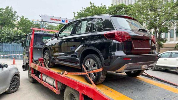 Suzuki Vitara SUV spied outside Maruti plant in Haryana