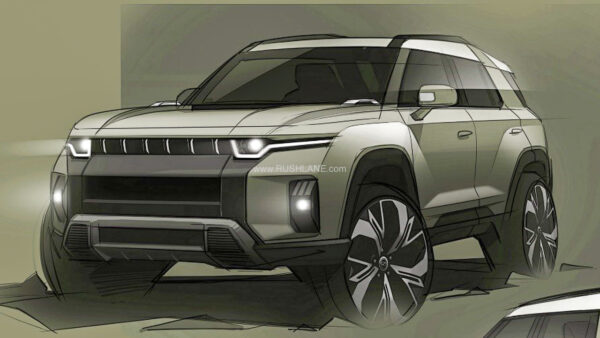 SsangYong J100 Electric SUV Teaser