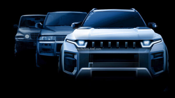 SsangYong J100 SUV teaser sketch
