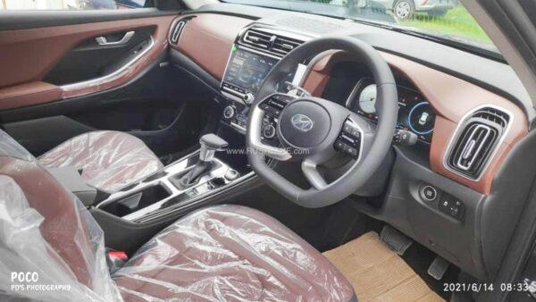 Hyundai Alcazar Cognac Brown Interiors