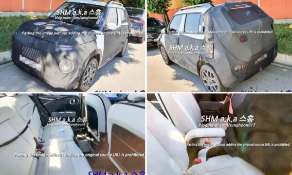 Hyundai AX1 small UV - Spied in production guise