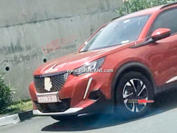 Peugeot 2008 SUV Spied in India