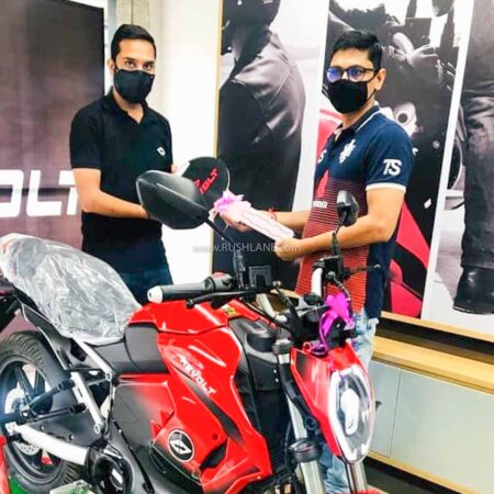 Revolt Electric Motorcycle Delivery