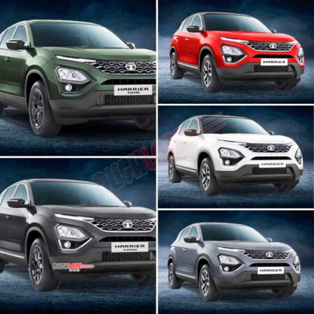 Tata Harrier existing colour options