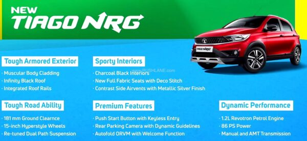 Tata Tiago NRG Features