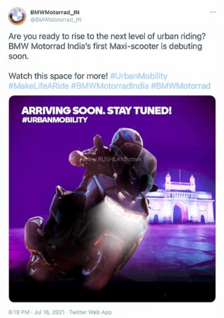 BMW India teases new scooter