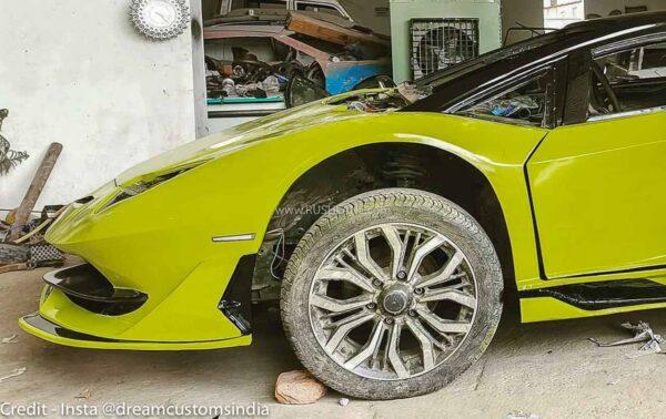 Honda Civic Modified To Look Like Lamborghini Aventador SVJ