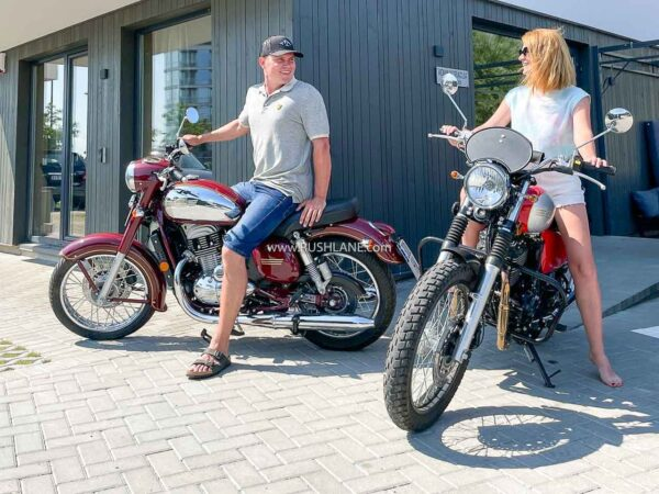 Jawa Europe also has the India-made Jawa Classic on sale